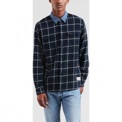 Levi's - Koszula Justin Timberlake. Brązowe koszule męskie Levi's, w kratkę, z bawełny, z klasycznym kołnierzykiem, z długim rękawem. Za 299.90 zł.