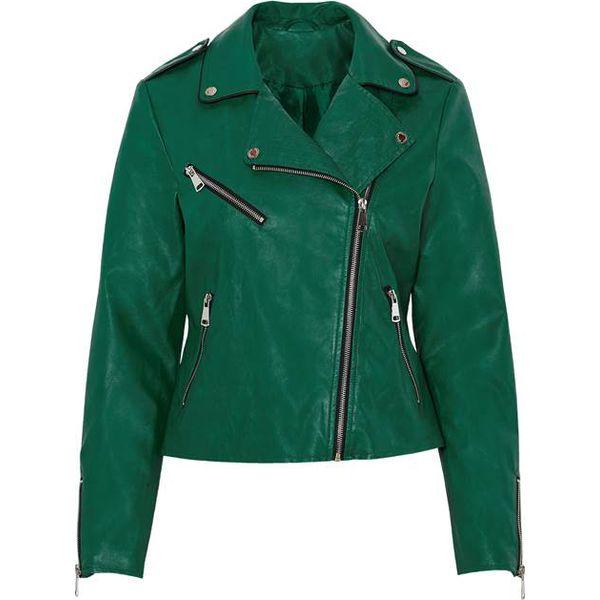 zielone kurtki skórzane damskie