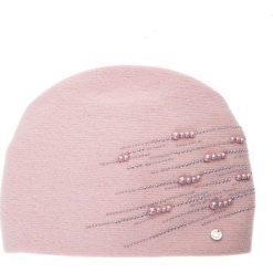 Różowa czapka z perełkami QUIOSQUE. Czerwone czapki i kapelusze damskie QUIOSQUE, z poliamidu. Za 119.99 zł.