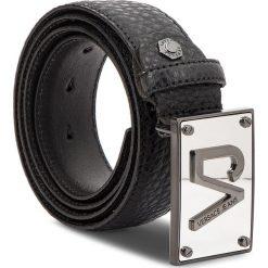 Pasek Męski VERSACE JEANS - D8YSBF07 70872 899. Czarne paski damskie Versace Jeans, w paski, z jeansu. W wyprzedaży za 379.00 zł.