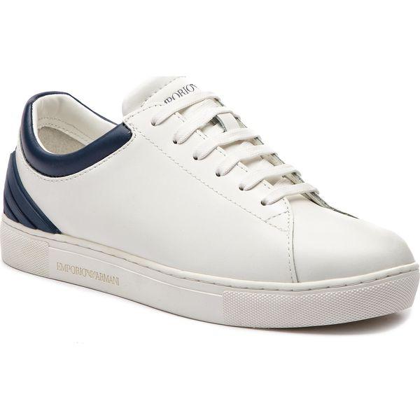 8e26bf6d73 Sneakersy EMPORIO ARMANI - XYX001 XOI12 B139 D White Navy - Półbuty ...