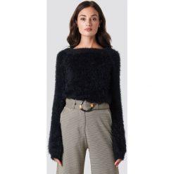 Rut&Circle Puchaty sweter - Black. Czarne swetry damskie Rut&Circle, z dzianiny, z okrągłym kołnierzem. Za 161.95 zł.
