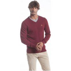 Polo Club C.H..A Sweter Męski L Burgundowy. Czerwone swetry przez głowę męskie Polo Club C.H..A, dekolt w kształcie v. W wyprzedaży za 259.00 zł.