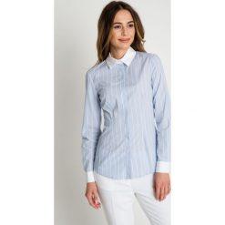 Błękitna koszula w paski BIALCON. Niebieskie koszule damskie BIALCON, w paski, biznesowe. W wyprzedaży za 172.00 zł.