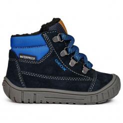 Geox Chłopięce Buty Zimowe Za Kostkę Omar, 26, Niebieskie. Niebieskie buty zimowe chłopięce Geox, z gumy. Za 309.00 zł.
