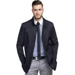 Płaszcz FLORIANO PSGS000097. Niebieskie płaszcze męskie Giacomo Conti, z materiału, eleganckie. Za 599.00 zł.