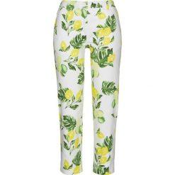 Spodnie ze stretchem 7/8, z nadrukiem bonprix biały z nadrukiem. Spodnie materiałowe damskie marki DOMYOS. Za 79.99 zł.