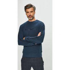 Diesel - Bluza. Szare bluzy męskie Diesel, z aplikacjami, z bawełny. Za 319.90 zł.