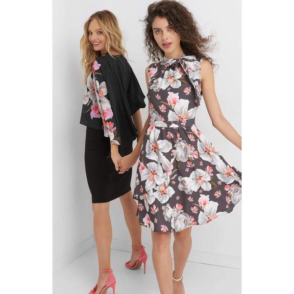 9c00cdb203 Sukienka w kwiaty z kokardą - Czerwone sukienki damskie marki Orsay ...