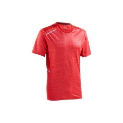 Koszulka do biegania RUN DRY+ męska. Czerwone koszulki sportowe męskie KALENJI, z elastanu. Za 39.99 zł.