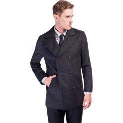 Płaszcz CRISTOFORO PSSE000012. Czarne płaszcze męskie Giacomo Conti, z wełny, klasyczne. Za 799.00 zł.