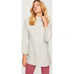 Sweter ze stójką - Jasny szar. Szare swetry damskie Reserved, ze stójką. Za 79.99 zł.