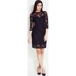 Sukienka z koronki awa-s17. Czarne sukienki damskie Awama, w koronkowe wzory, z koronki, wizytowe. Za 99.00 zł.