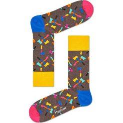 Happy Socks - Skarpety Axe. Brązowe skarpety męskie Happy Socks, z bawełny. W wyprzedaży za 29.90 zł.