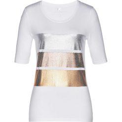T-shirt bonprix biało-srebrny. T-shirty damskie marki DOMYOS. Za 49.99 zł.