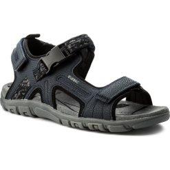 Sandały GEOX - U S.Strada A U8224A 00050 C4002 Navy. Niebieskie sandały męskie Geox, z materiału. W wyprzedaży za 229.00 zł.