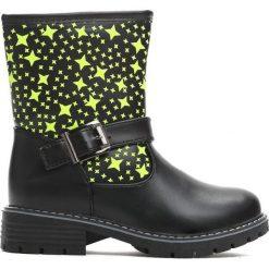Czarne Botki Winter Stars. Czarne botki dziewczęce Born2be, z materiału. Za 49.99 zł.