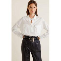 Mango - Koszula Carbon. Szare koszule damskie Mango, z lyocellu, klasyczne, z klasycznym kołnierzykiem, z długim rękawem. Za 139.90 zł.