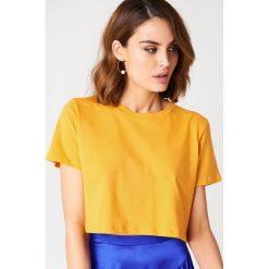NA-KD Basic Krótki T-shirt oversize - Orange. Pomarańczowe t-shirty damskie NA-KD Basic, z bawełny. Za 40.95 zł.