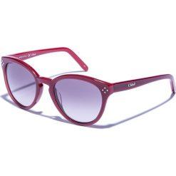 Dziecięce okulary przeciwsłoneczne w kolorze bordowo-fioletowym. Okulary przeciwsłoneczne damskie Valentino & Chloé. W wyprzedaży za 348.95 zł.