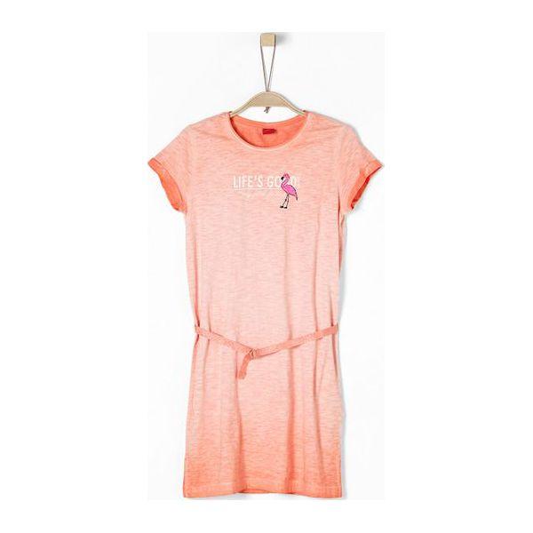 b2a5354388 S.Oliver Sukienka Dziewczęca 146 Pomarańczowa - Sukienki dla ...