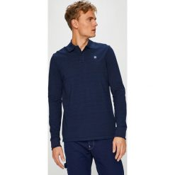 G-Star Raw - Longsleeve. Niebieskie bluzki z długim rękawem męskie G-Star Raw, z bawełny, polo. W wyprzedaży za 259.90 zł.