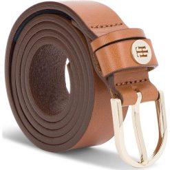 Pasek Damski TOMMY HILFIGER - Classic Belt 2.5 AW0AW05884 262. Brązowe paski damskie Tommy Hilfiger, w paski, ze skóry. Za 179.00 zł.
