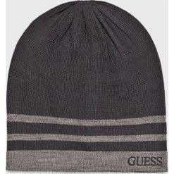 Guess Jeans - Czapka. Czarne czapki i kapelusze męskie Guess Jeans. Za 139.90 zł.