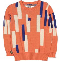 """Sweter """"Piano Man"""" w kolorze pomarańczowo-niebiesko-kremowym. Swetry dla chłopców marki Reserved. W wyprzedaży za 122.95 zł."""