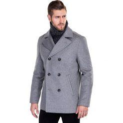 Płaszcz CRISTOFORO PSPE000013. Szare płaszcze męskie Giacomo Conti, na jesień, z wełny, klasyczne. Za 799.00 zł.