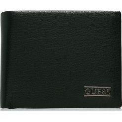 Guess Jeans - Portfel skórzany. Czarne portfele męskie Guess Jeans, z jeansu. Za 279.90 zł.
