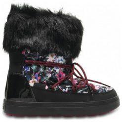 Crocs Śniegowce Lodge Point Graphic Lace Boot W Tropical/Black 41,5. Czarne śniegowce i trapery damskie Crocs, z gumy. W wyprzedaży za 299.00 zł.