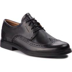 Półbuty CLARKS - Un Aldric Wing 261325977 Black Leather. Czarne eleganckie półbuty Clarks, z materiału. W wyprzedaży za 319.00 zł.