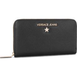 Duży Portfel Damski VERSACE JEANS - E3VSBPN3  70787 899. Czarne portfele damskie Versace Jeans, z jeansu. Za 369.00 zł.