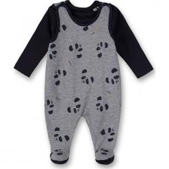 2-częściowy zestaw w kolorze szaro-granatowym. Niebieskie śpioszki niemowlęce marki Eat ants, z bawełny. W wyprzedaży za 85.95 zł.