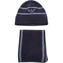 Zestaw Szalik i Czapka EMPORIO ARMANI - 407504 8A723 11236 Dark Blue/Avio Blue. Niebieskie czapki i kapelusze damskie Emporio Armani, z materiału. Za 549.00 zł.