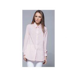 Elegancka koszula z kołnierzykiem różowa H025. Białe koszule damskie Harmony, biznesowe, z klasycznym kołnierzykiem, z długim rękawem. Za 134.00 zł.