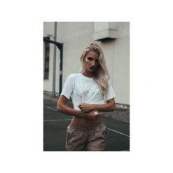 T-shirt Epilepsy. Białe t-shirty damskie Harp team, z nadrukiem, z materiału. Za 79.00 zł.