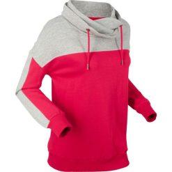 Bluza dresowa, długi rękaw bonprix jasnoszary melanż - czerwony. Czerwone bluzy damskie bonprix, melanż, z dresówki. Za 99.99 zł.
