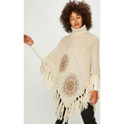 Desigual - Sweter. Szare swetry damskie Desigual, z dzianiny. W wyprzedaży za 299.90 zł.