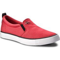 Tenisówki CALVIN KLEIN JEANS - Armand Denim S1488  Red. Czerwone trampki męskie Calvin Klein Jeans, z denimu. W wyprzedaży za 219.00 zł.