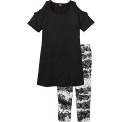Piżama ze spodniami 3/4 bonprix czarny z nadrukiem. Piżamy damskie marki MAKE ME BIO. Za 69.99 zł.
