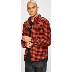 Calvin Klein Jeans - Koszula. Brązowe koszule męskie Calvin Klein Jeans, w kratkę, z bawełny, z klasycznym kołnierzykiem, z długim rękawem. Za 349.90 zł.