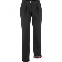 Spodnie chino ocieplane bonprix czarny. Czarne spodnie materiałowe damskie bonprix. Za 159.99 zł.