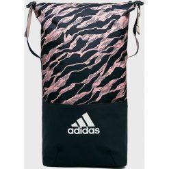 Adidas Performance - Plecak. Czarne plecaki damskie adidas Performance, w paski, z materiału. W wyprzedaży za 129.90 zł.