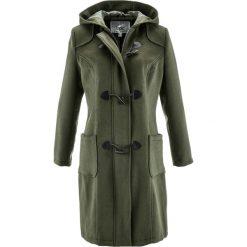 Płaszcz wełniany budrysówka bonprix ciemnooliwkowy. Płaszcze damskie marki FOUGANZA. Za 249.99 zł.