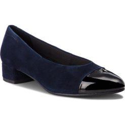 Półbuty VAGABOND - Alicia 4605-149-95 Dk Blue/Black. Niebieskie półbuty damskie Vagabond, z lakierowanej skóry. W wyprzedaży za 299.00 zł.