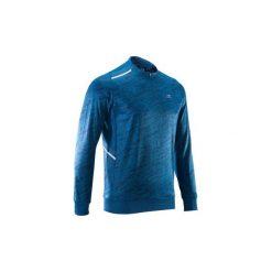 Bluza do biegania RUN WARM+ męska. Niebieskie bluzy męskie KALENJI. Za 69.99 zł.