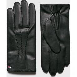 Tommy Hilfiger - Rękawiczki. Czarne rękawiczki męskie Tommy Hilfiger, z materiału. Za 299.90 zł.
