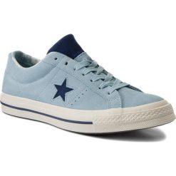 Tenisówki CONVERSE - One Star Ox 160585C Ocean Bliss/Navy/Egret. Niebieskie trampki męskie Converse, z gumy. W wyprzedaży za 249.00 zł.